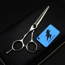 5.5 Inch Professional Hair Scissors Left Hand Cutting Scissors Barber Shears Hairdressing Scissors Salon Tools Scharen microscopic instruments 14 cm micro scissors inner barrier cut quality scissors hand surgery membranous envelo