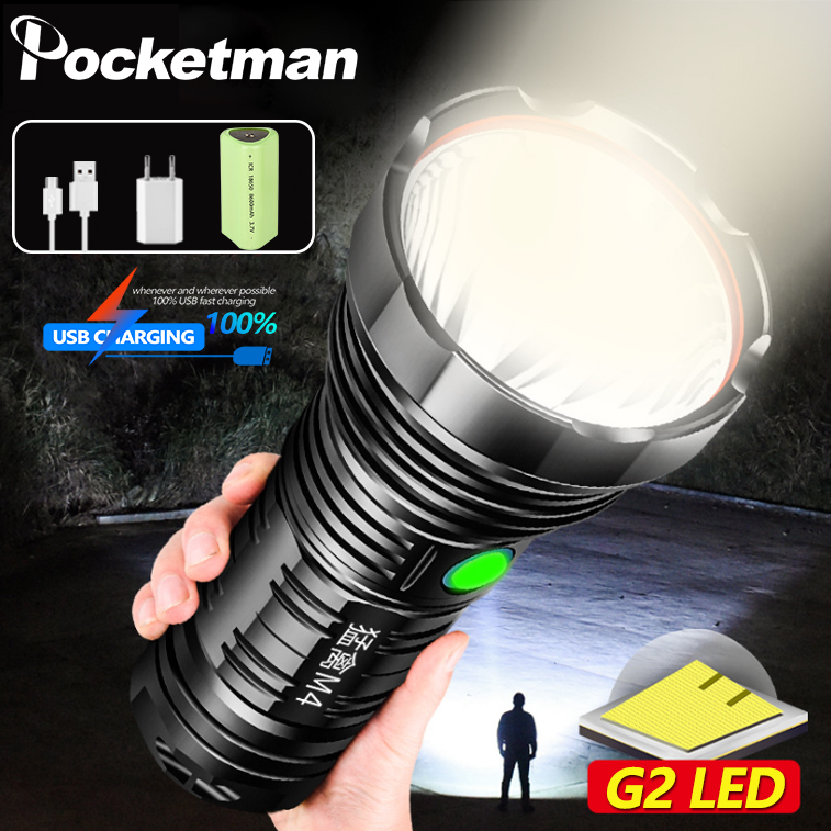 Super Bright G2 LED Flashlight XLamp Tactical Flash Lights XHP70 USB Rechargeable Waterproof Light By 26650 For Hunting