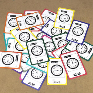 Montessori Toys Flash-Cards Games Educational-Card Learn Learning-Time/alarm-Clock Baby