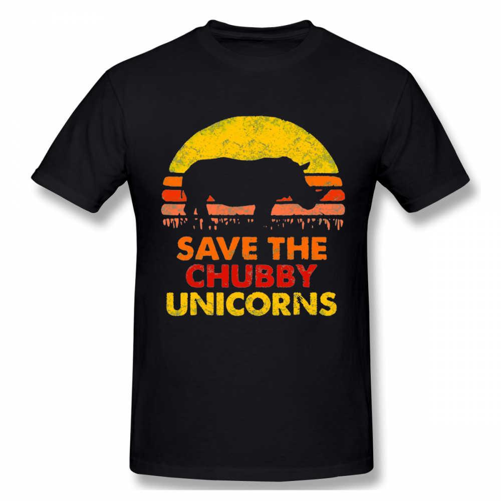 Novità Risparmia Il Paffuto Unicorni Rhinos T Shirt Per Uomo Pantaloni A Vita Bassa T Shirt In Cotone Organico Più Il Formato Camiseta