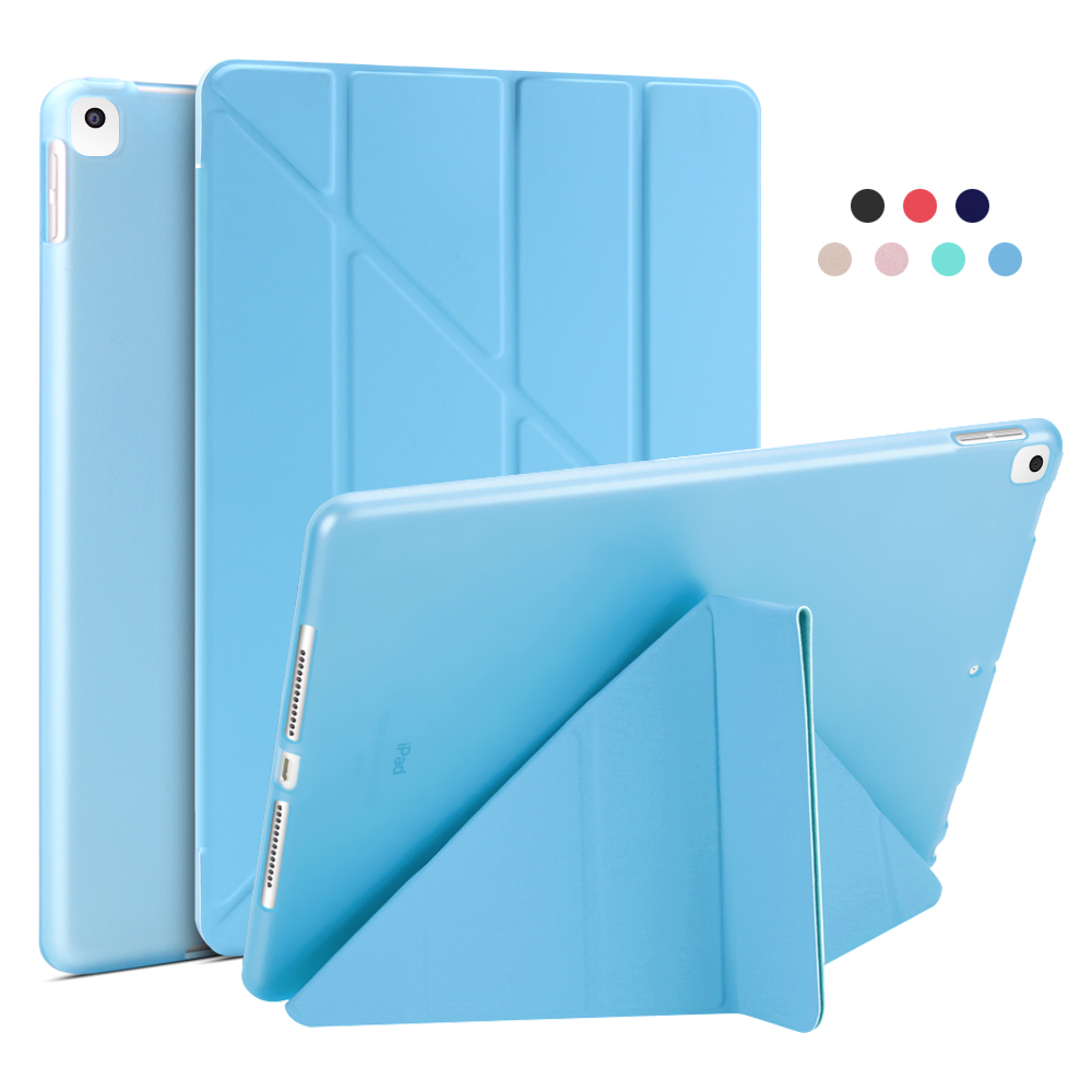 Blue Blue For iPad 10 2 Case 2020 2019 PU Leather Multi Fold Stand Smart Cover For iPad