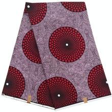 Dutch wax African Ankara Wax Prints Fabric 6 Yards printed pattern wrapper 100% cotton