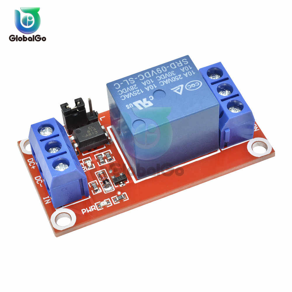 DC 5V 9V 12V 24V 1 Channel Relay Module With Optocoupler Shield Board High Low Level Trigger Power Supply Module Switch