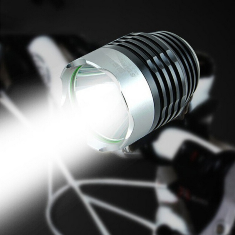 USB Rechargeable LED Bicycle Light Bike Mode Adjustable Front Headlight Safety Flashlight CYC