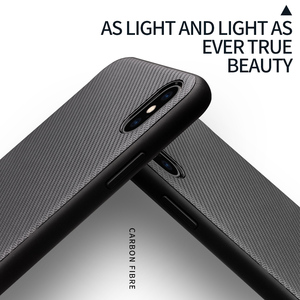 Image 4 - QIALINO funda de fibra de carbono para Apple iPhone X/XS, carcasa ultrafina con sensación de fibra de carbono para iPhone XR/XS Max