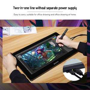 Image 5 - BOSTO 16HD 15.6 Inch IPS Graphics Drawing Tablet Display Monitor 8192 Pressure Level with Rechargeable Stylus Pen 16GB USB Disk