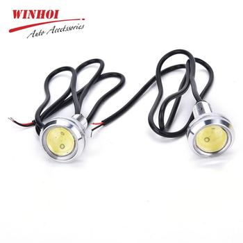 цена на 2pcs 23mm Car LED Eagle Eye Daytime Running Light Fog Light License Plate Light Waterproof Car Truck Backup Reverse Lamp Bulb