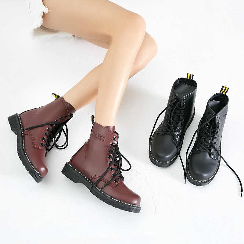 Women Boots Female Winter Shoes Women Ankle Boots Genuine Leather Boots For Martin Boots Warm Fur Bota Women Booties Botas Mujer