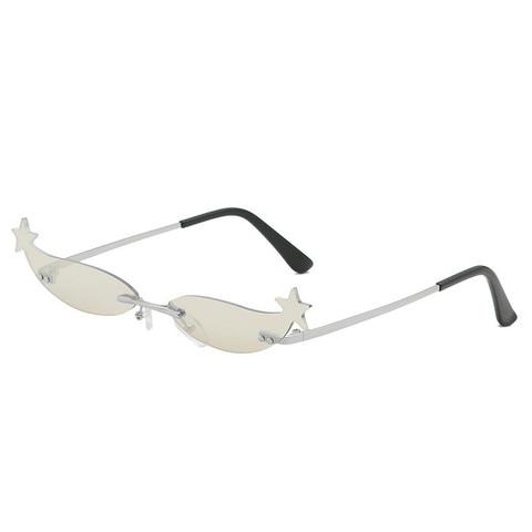Star Frame Women Sunglasses Oculos Fashion Sexy Small Rimless Mirror Lens Ladies Men Sunglasses Sun Glasses UV400 Shades Eyewear Lahore
