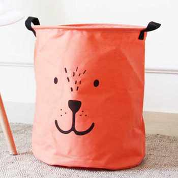 Cartoon DOG Foldable Dirty Laundry Basket Organizer Cute Printed Collapsible Waterproof Home Laundry Hamper Sorter Basket Holder