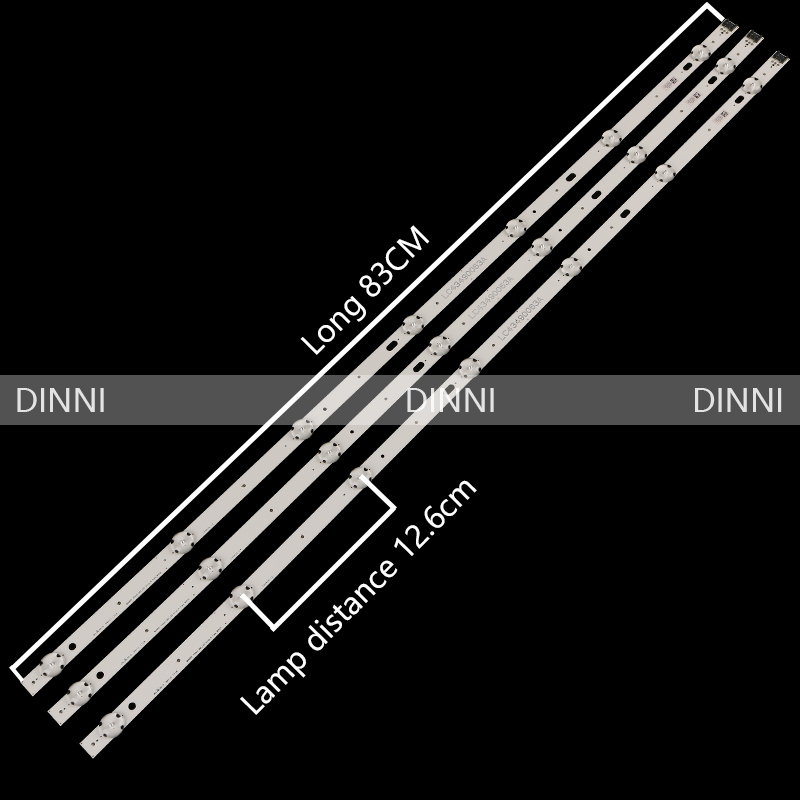 New 3 PCS/set 7LED 830mm LED Backlight Strip For LG 43LJ5500 43UJ6300 43UJ634V LC43490062A LC43490063A LC43490064A LC43490060A