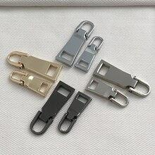 1PC Detachable 3# 5# Metal Zipper Sliders Pullers Zip Repair Kits Zippers Pull For Garment Bags DIY Sewing Crafts