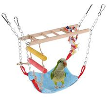 Птица, дерево, лестница, Теплый Гамак, подвесная кровать для попугая, попугайчика, попугайчика