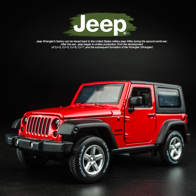 1:32 Jeep Wrangler Rubicon Alloy Model Car Diecasts Metal Toy Off-road Vehicles Model Collection High Simulation Kids Toy Gift 3