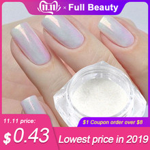 1g Mermaid Pigment Powder on nails White/Silver/Gold Super Shimmer Magic Nail Glitter Laser Manicure Decorations CHM05/09/10(China)
