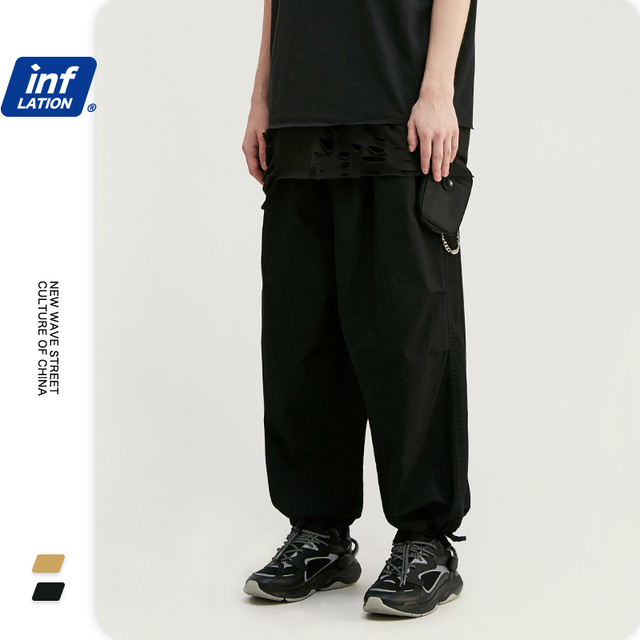 INFLATION Men Hip Hop Baggy Harem Pants 2020 SS Collection Jogger Streetwear Men Harem Pants Windbreaker Men Baggy Pants 3016S20 39