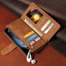 Premium Zipper odwróć skórzany portfel etui do Samsung Galaxy A10 A20 A30 A40 A50 A70 A21 A71 A51 pokrywa posiadacz karty Kickstand Coque