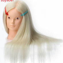 55-60CM White mannequin heads with 85% human hair for braiding manniquin dolls dummy head for hairdresser practice hair
