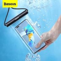 Baseus-funda de teléfono resistente al agua para móvil, funda de protección Universal para iPhone 13, 12 Pro Max, Samsung, Xiaomi Poco Swim