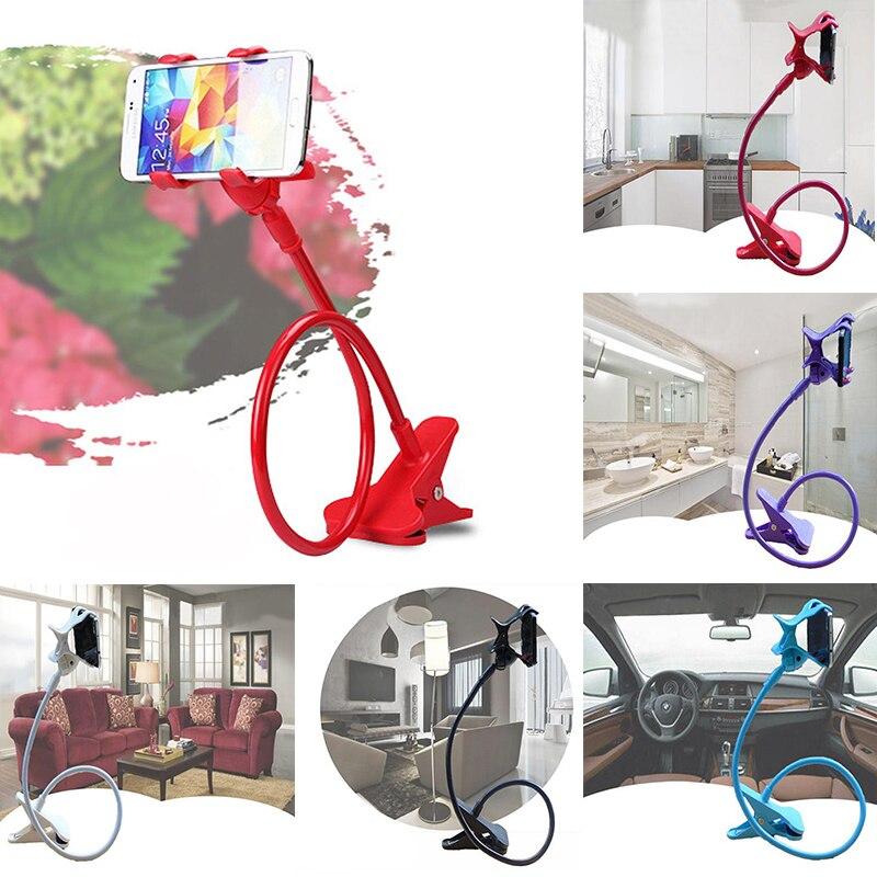 NEW Universal 360°Lazy Mobile Phone Gooseneck Stand Holder Stents Flexible Bed Desk Table Clip Bracket Flexible Holder Arm