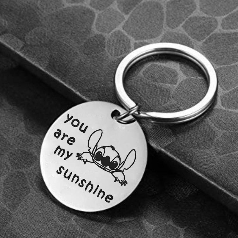 Keychain Creative Chain for Pants Womans Key Chain Bags Women Stitch Pendant Key Ring Unisex Key Holder Metal Jewelry Llaveros