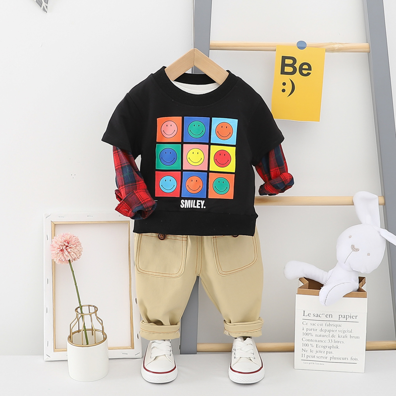 HYLKIDHUOSE 2020 Spring Infant Clothing Sets Toddler Baby Clothes Long Sleeve T Shirt Pants Girls Boys Vacation Clothing