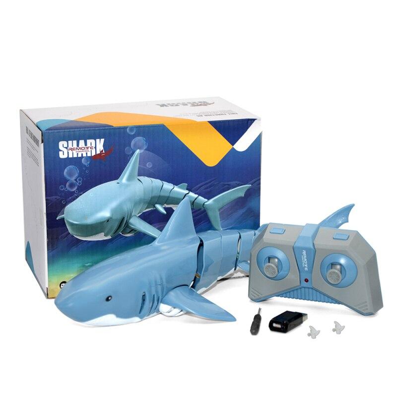 2.4g rc tubarão peixe barco 1:18 controle