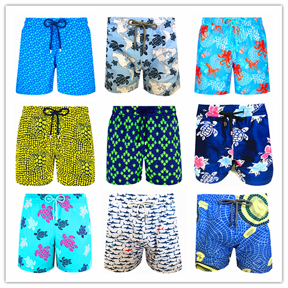 2020 Brand Fashion Brevile Pullquin Beach Board Shorts Men Turtles Swimwear Bermuda 100% Quick Dry Adults Swimtrunks M L XL XXL