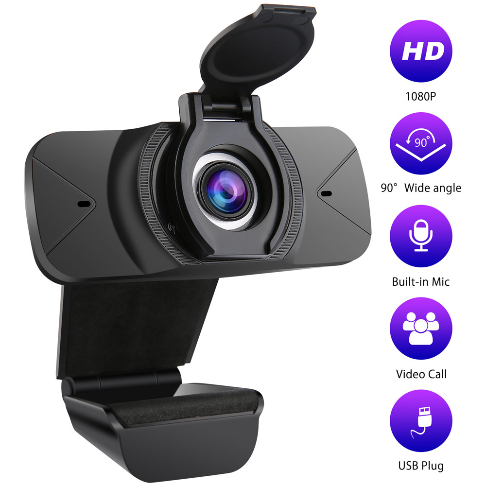 BALLEEN.E Full HD 1080P Wide Angle USB Webcam With Mic Web Cam Laptop Online Teching Conference Web Cameras Anti Peeping Webcame