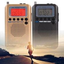 ポータブルフルバンドラジオ航空機バンド受信機 fm/am/sw/cb/空気/vhf 世界バンド lcd 表示アラーム時計 HRD 737