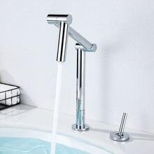 Смеситель для раковины в ванной широкое применение хромированный