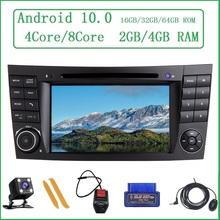 ZLTOOPAI dla Mercedes Benz e-klasa W211 E300 CLK W209 CLS W219 odtwarzacz multimedialny Android 10 auto stereo radio gps tanie tanio Double Din 4x50w System operacyjny Android 10 0 Dvd-r rw Dvd-ram Video cd Jpeg High quality alloy 266*240*120mm 4 5kg Bluetooth