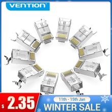Vention Cat7 RJ45 разъем Cat7/6/5e STP 8P8C модульный Ethernet кабель с позолоченным разъемом для сети RJ 45 обжимные разъемы