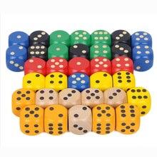 10 шт./партия 20 мм точечные кубики Круглый Coener игральные кости набор деревянный 6 сторонний красочный точечный игральные кости аксессуары для настольной игры