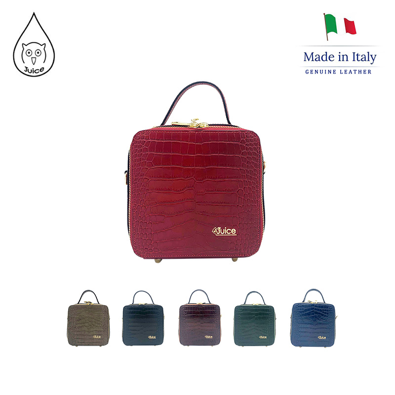 JUICE,made In Italy, Genuine Leather, Women Bag,handbag/cross Body,Cocco Print Leather 112207