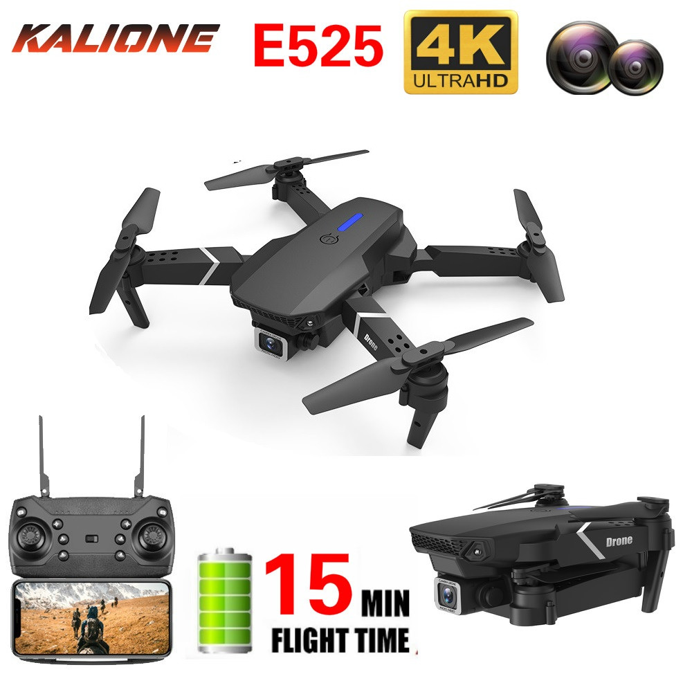 2020 New E525 RC drone 4k with Camera HD wide-angle 1080P WIFI visual positioning height keep follow me rc quadcopter drones