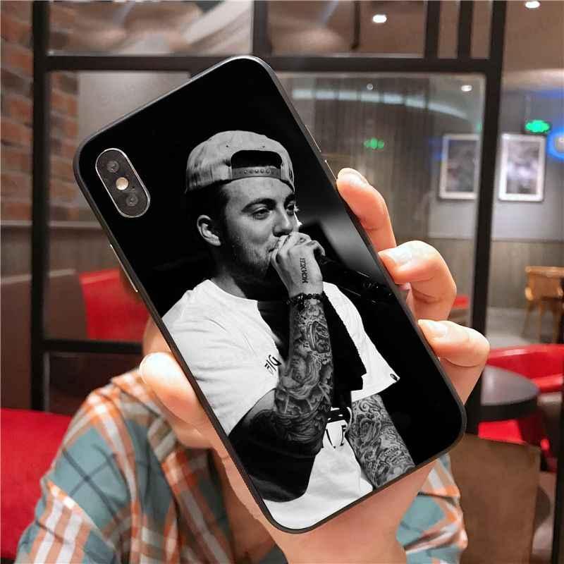 Housse pour iphone xs max portable Mac Miller Souvenirs TPU noir housse de téléphone Coque pour iphone 5 5Sx 6 7 7plus 8 8plus X XS MAX XR