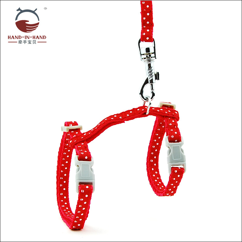 Hand-in-hand Pet Supplies Hand Holding Rope Pet Cat Dog Chest Strap Mao Sheng Mao Lian Cat Hand Holding Rope H-Shaped Dotted
