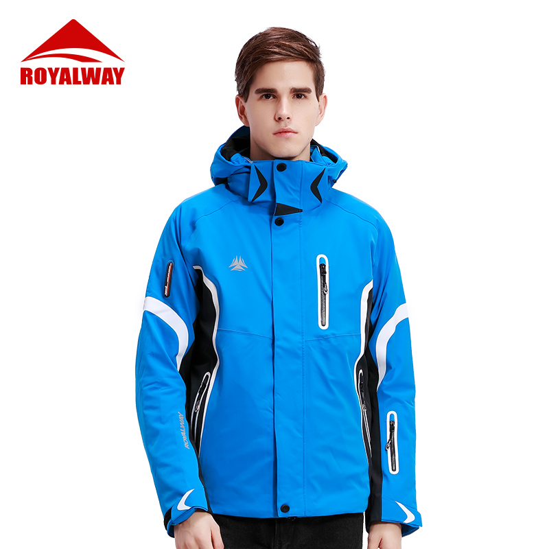 ROYALWAY Winter Outdoor Sports Christmas Ski Suit Men Snowboard Skiing Jackets Waterproof Avalanche Search Rescue System