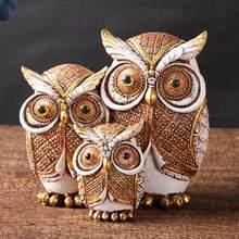 Dekoration Owl Figurine Umweltfreundliche Anti-verblassen Harz Desktop Eule Statue Decor für Büro