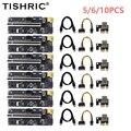 TISHRIC 5/6/10PCS PCI-E Riser 009S Plus 6Pin PCI E Riser Karte Express 1X Zu 16X Extender PCI Riser PCIE x16 Für GPU Miner Bergbau
