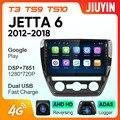 JIUYIN для Volkswagen Sagitar 2012-2018 автомобильный Радио Мультимедиа Видео плеер навигация GPS Android No 2din 2 din