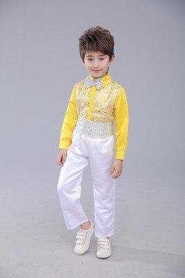 Балетный костюм, одежда для хора, платье саронга, пышная балетная юбка принцессы для девочек, костюм для мальчиков, желтый костюм для выступлений - Цвет: 12