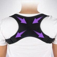Cinto de apoio traseiro ajustável volta postura corrector ombro para trás cinto de apoio lombar cintas cinto de correção de postura de ombro