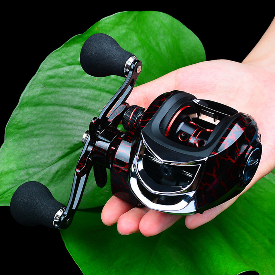 Fishing Baitcasting Reel Spinning 18+1BB 10kg/22LB Drag Super Strong Magnetic Force Speed Ratio 7.1:1 Metal Casting Fishing Reel