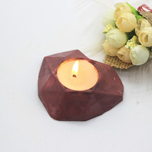 Geometry Heart Shape Candlestick Silicone Mold for Cement Craft Clay Molds Desktop Ornament Mould