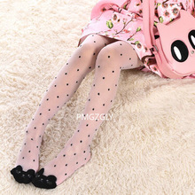 Cute cat girl tights children's sheer stockings for girls kids baby pantyhose cartoon