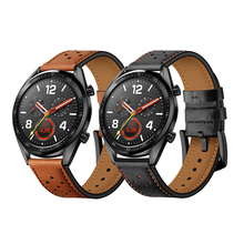 цена на galaxy watch 46mm strap for samsung galaxy S3 Frontier/Classic huawei watch gt band 22mm Genuine Leather watch band Accessories
