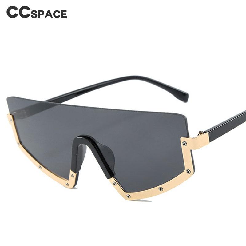 Gafas con montura de diseño oversize para hombre y mujer, lentes de moda con protección UV400, 46228