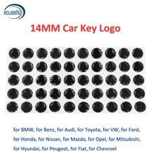 10/30/50 pces/100 pces 14mm resina epóxi cristal substituição emblema logotipo para kd/vvdi flip remoto carro chave do escudo adesivo (sílica gel)